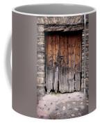 Antique Wood Door Damaged Coffee Mug