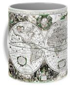 Antique World Map Poster Coffee Mug