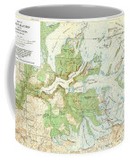 Antique Yosemite National Park Map Coffee Mug