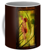 Antiqued Cone Flowers Coffee Mug