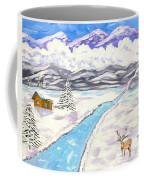 Antlers And Snow Coffee Mug