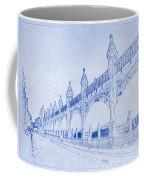 Antwerp Railway Bridge Blueprint Coffee Mug