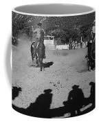 Apache Roping Cow Labor Day Rodeo White River Arizona 1969 Coffee Mug