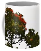 Apapane Atop An Orange Ohia Lehua Tree  Coffee Mug