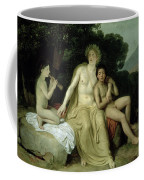 Apollo With Hyacinthus And Cyparissus Singing And Playing, 1831-34 Oil On Canvas Coffee Mug