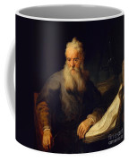 Apostle Paul Coffee Mug by Rembrandt
