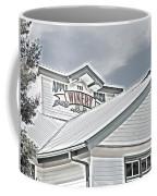 Apple Barn Winery Sign In Grayscale Coffee Mug