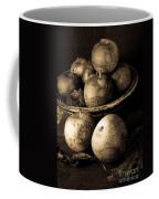 Apple Still Life Black And White Coffee Mug