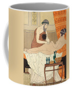 Application Of White Egyptian Perfume To The Hip Coffee Mug by Joseph Kuhn-Regnier