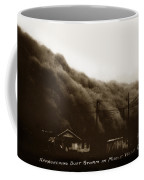 Approaching Dust Storm In Middle West By Frank D. Conard Circa 1938 Coffee Mug