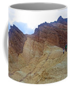 Approaching The Jagged Peaks In Golden Canyon In Death Valley National Park-california  Coffee Mug