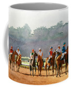 Approaching The Starting Gate Coffee Mug by Mary Helmreich