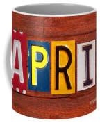 April License Plate Name Sign Fun Kid Room Decor Coffee Mug