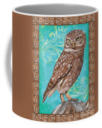 Aqua Barn Owl Coffee Mug