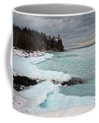 Aqua Ice At Split Rock Lighthouse Coffee Mug