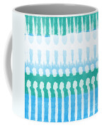 Aqua Coffee Mug by Linda Woods