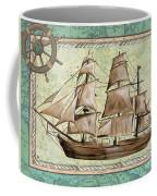 Aqua Maritime 1 Coffee Mug by Debbie DeWitt