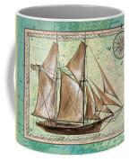 Aqua Maritime 2 Coffee Mug by Debbie DeWitt