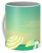 Aqua Sky With Umbrellas Coffee Mug