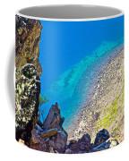 Aquamarine Shoreline At North Junction Of Crater Lake In Crater Lake National Park-oregon Coffee Mug