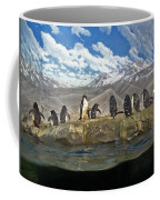 Aquarium Penguins Line Dance Coffee Mug