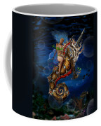 Aquatic Goddess On Unicorn Seahorse Coffee Mug