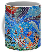 Aquatic Mosaic Tile Art Coffee Mug