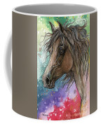 Arabian Horse And Burst Of Colors Coffee Mug