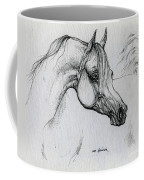 Arabian Horse Drawing 28 Coffee Mug