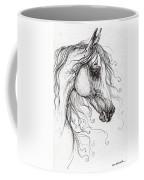 Arabian Horse Drawing 48 Coffee Mug