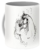 Arabian Horse Drawing 8 Coffee Mug by Angel  Tarantella