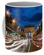 Arc De Triomphe At Dusk Paris Coffee Mug