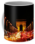 Arc De Triomphe At Night Coffee Mug
