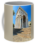 arc of triumph in Piazza Della Vittoria - Genova Coffee Mug