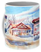 Arcadia Sporting Goods In Winter Blue Coffee Mug by Kip DeVore