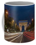Arch De Triomphe And Avenue Des Champs Elysees Paris France Coffee Mug