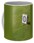 Archery Round Target On A Stand Coffee Mug