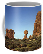 Arches National Park With Balanced Rock And Rock Formations Coffee Mug