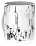 Architecture Of New York City Coffee Mug by Dan Sproul