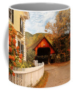 Architecture - Woodstock Vt - Entering Woodstock Coffee Mug by Mike Savad