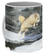 Arctic Fox Jumping Coffee Mug