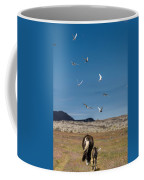Arctic Terns With Mare And Foal Coffee Mug