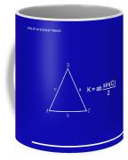 Area Of An Isosceles Triangle Dk Blue/wht Coffee Mug