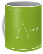 Area Of An Isosceles Triangle Lime/white Coffee Mug