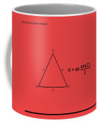 Area Of An Isosceles Triangle Red/black Coffee Mug