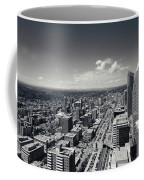 Arial View Of Calgary Facing West Coffee Mug