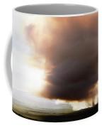 Ariel View Of Burning Sugar Cane Fields Coffee Mug