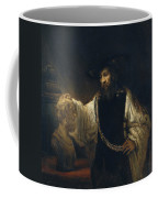 Aristotle With A Bust Of Homer Coffee Mug