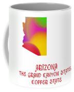 Arizona State Map Collection 2 Coffee Mug