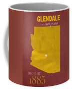 Arizona State University Sun Devils Glendale College Town State Map Poster Series No 012 Coffee Mug